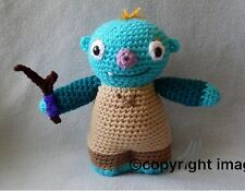 """Hand Crocheted Wallykazam Large Wally with stick *NEW* 9"""" Doll made to order"""