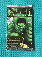 1x HULK FILM and COMIC TRADING CARD unopened Pack Upper Deck 5 cards per pack