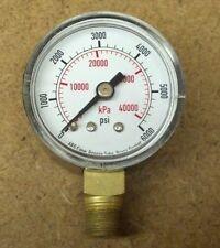 2, Pressure Gauge, Test, 1-1/2 In 6000 psi, Lot of 2 pieces 4FLT4 Grainger