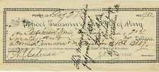 Perry Oklahoma Territory School Treasurer of the City of Perry 1895 Check )T(A)