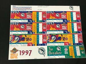 1997 FLORIDA MARLINS WORLD SERIES UNCUT TICKET SHEET (7) NLCS VERY RARE!! 10820