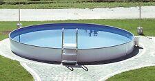 Stahlwandbecken Pool Schwimmbecken 4,50 x 0,90m Pool mit Skimmerstanzung
