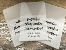Personalised Wedding Confetti Bags- Pack of 10