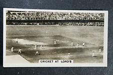 Lord's   Cricket Test Match    Original 1930's Vintage Action Photo Card ## VGC