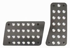 Gray Charcoal Machined Billet Aluminum 2 Foot Pedal Pads for Car/Truck Automatic