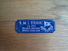 RMS Titanic Ship White Star Line Metal Display Plaque Revell Academy Minicraft