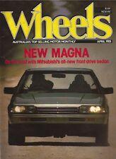 Wheels Apr 85 Magna Regatta 100S Stellar Bluebird Magna Camira Cordia Mazda 323