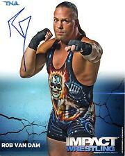Tna Foto Firmada Rob Van Dam Rvd Raro Wwe Wrestling Promo & Coa