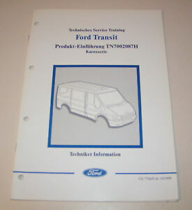 Técnico Información Ford Transit - Carrocería - Año Modelo 2000