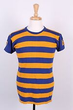 VTG 60S RAYON BLEND STRIPED JERSEY T SHIRT USA MENS LARGE