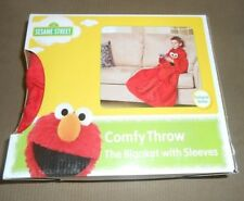 New Youth Child Kids Elmo Fleece Blanket with Sleeves Gift Sesame Street Snuggie