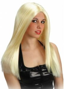 parrucca bionda lunga liscia