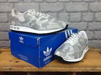 ADIDAS MENS UK 7 EU 40 2/3 US 7 1/2 GREY CAMO WEAVE RARE TRAINERS