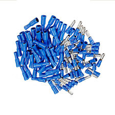 100pcs Male & Female Blue Insulated Bullet Connector Terminals 16-14AWG Wire Kit