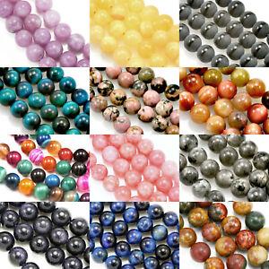 48 Pcs 8 mm Round Semi-precious Gemstone Beads for Jewellery Making