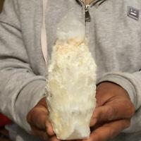 630g Natural White Quartz Crystal Cluster Skeletal Mineral Specimen Healing