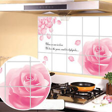 Waterproof Roses Kitchen Oil-proof Removable Wall Stickers Vinyl Art Decor 614
