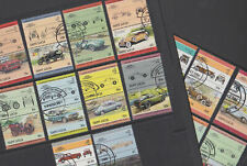 St Lucia 1984-86 Used FU Full Sets Leaders of the World Motor Cars