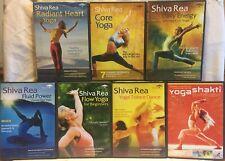 7 Shiva Rea yoga DVD lot Radiant Heart Flow for Beginners Creative Core Vinyasa