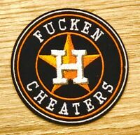 "2019 Houston Astros FUCKEN CHEATERS Patch MLB 2.5"" Iron or Sew On Champions"