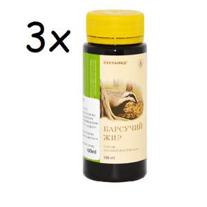 9,83 Eur/100ml) 3x Dachsfett Dachs Fett Murmeltierfett Барсучий жир, 3x100 ml