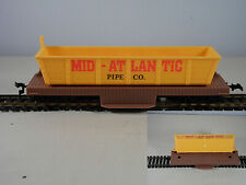 Vintage Life Like Train Car HO Scale Operating  Mid Atlantic Pipe Dump Car