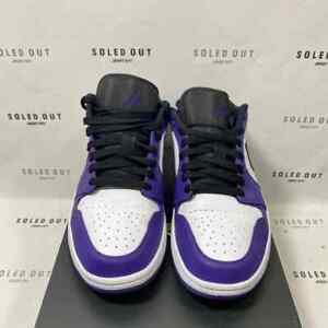 """Air Jordan 1 Low """"COURT PURPLE"""" 2020 - Size 9 - 553558 500 (9539-18)"""