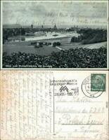 Ansichtskarte Dresden Blick vom Waldschlößchen auf die Stadt 1938
