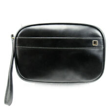 dunhill Clutch Bag Leather Used Auth T10147
