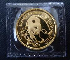 China 1986 Gold 1/4 oz Panda 25 Yuan Original Mint Sealed BU