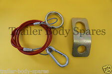 FREE UK Post - Breakaway Cable & Fixing Bracket for Caravans & Trailers