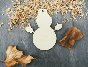 Laser Plywood Christmas Snowman Shape x 10, 4mm Plywood Shapes Wood Shapes