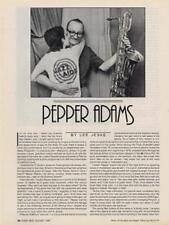 Pepper Adams Downbeat Clipping