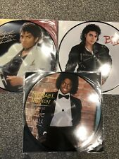 Michael Jackson - Thriller + Bad + Off The Wall 3x Picture Disc Vinyl LP's NEW