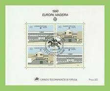 Portugal Madeira 1990 Europa miniature sheet used