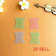 20pcs Plastic Thread Bobbins for Cross Stitch Embroidery Floss&Craft Storage