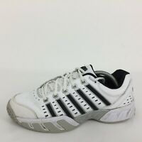 K.Swiss White Leather  Sports Running Gym Trainer Sneakers  Men Size UK 8 Eur 42
