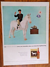 1957 Whisky Whiskey White Horse Ad  Hoist the Highball Flag