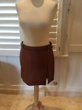 FREE PEOPLE FAUX BROWN LEATHER MINI SKIRT UK12 new