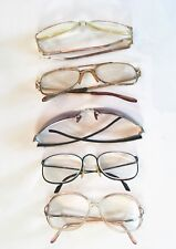 Vintage Lot of 5 Defective Eyeglass Frames Glasses Xcess Collecting Plastic
