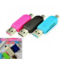 Card Reader USB 2.0 Micro Phone & PC OTG Adapter SD/T-Flash Memory FA1