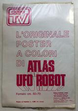Poster + adesivo + trasferelli ATLAS UFO ROBOT Goldrake EDIERRE 1978 BLISTERATO