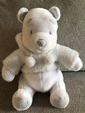 "Disney Store Winnie The Pooh Snowflake Pals White Sparkle Stuffed Push Toy 12"""