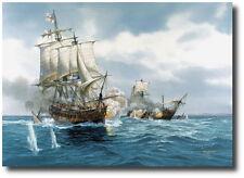 """Diana"" (Artist Proof) by Tom Freeman - HMS Diana Captures French Brig 1803"