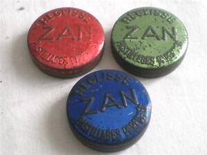 3 ANCIENNES BOITES PUB REGLISSE ZAN
