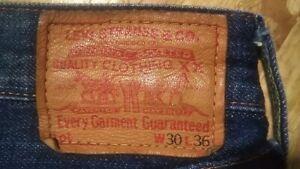 """Levis Vintage Closing 50s 501xx  Reprint  Selvedge  Leather patch  Big """"E""""  LVC"""