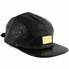 Agora pleine peau de serpent 5 Panel Camp Cap Hat Snapback NEW