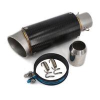 38-51mm Motorcycle Carbon Fiber Color Exhaust Muffler Pipe Dirt Bike Universal