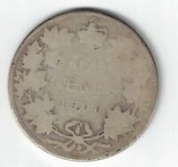 CANADA 1900 50 CENT HALF DOLLAR QUEEN VICTORIA STERLING SILVER CANADIAN COIN