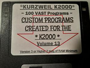Kurzweil K2000 Assorted Custom Programs vol.13 ~ 100 VAST Programs!!!